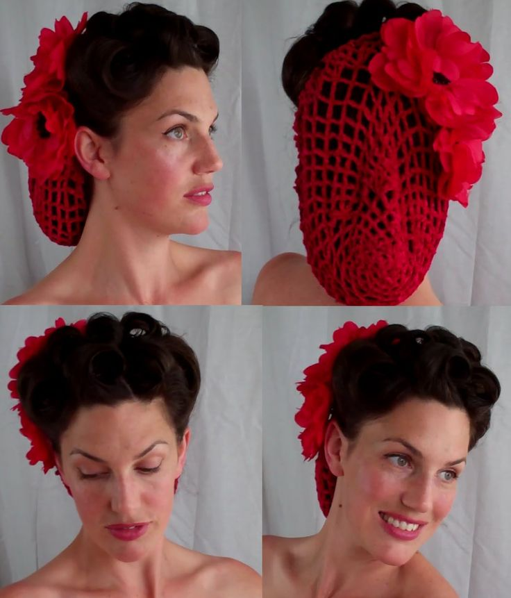 How To Retro Vintage Inspired Snood Updo Hairstyle S S Pinup Vintagious