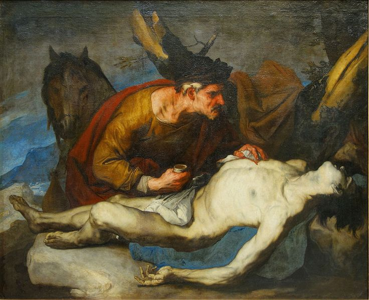 The good samaritan, Luca Giordano