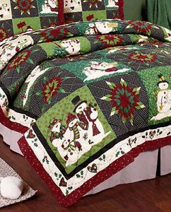 Christmas bedspreads | ... Welcome Quilted Queen Bedspread & Shams Patchwork Christmas Tree Star