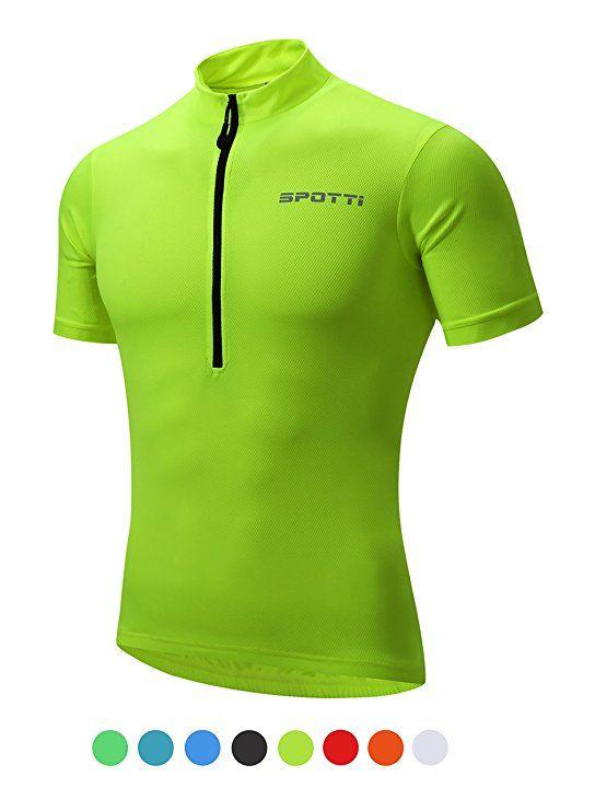 27578d9c9 Spotti Basics Men s Short Sleeve Cycling Jersey - Bike Biking Shirt    Sports  amp  Outdoors