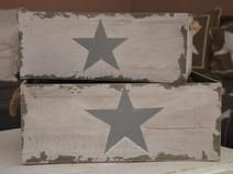 Holzkisten Vintage Set Holzkiste Stern BIG