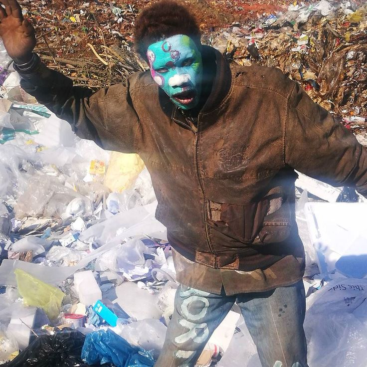 Call me weird if you want to.. that's okay. A landfill site is surely not the place to take photos.  I however was very intrigued by this very colourful friendly fellow contrasting the ugly finish dump. So .... Yes you can find something 'attractive' anywhere ... just need to look close enough. #dump #landfill #ugly #character  #weird  #photooftheday  #scary #southafrica #instaphoto