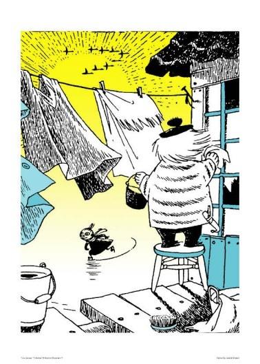 Moomin poster - Skating