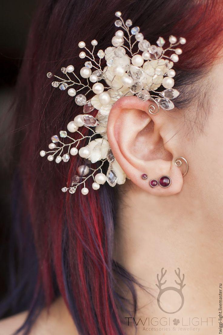 Wedding Ear Cuff    Свадебный кафф с веточками в интернет магазине на Ярмарке Мастеров