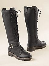 Women's Martino Waterproof Tall Lace-Up Boots | Sahalie. Olive