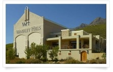 Waverley Hills Organic Wine and Olives. Visitors can enjoy sampling the estate's wine olive products in the tasting room or dine in the restaurant which boasts panoramic views of the valley. There is also a short hiking trail and a wonderful play area with jungle gym for children.