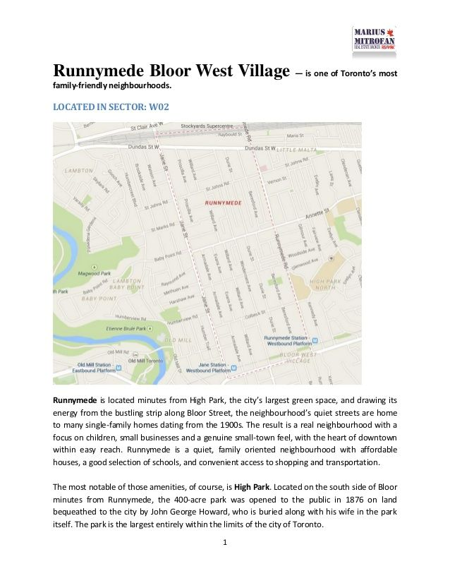 All about #Runnymede #Bloor West #Village - #Toronto