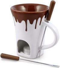 NEW Swissmar F12064 4-Piece Nostalgia Chocolate Fondue Mug Set