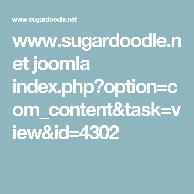 www.sugardoodle.net joomla index.php?option=com_content&task=view&id=4302