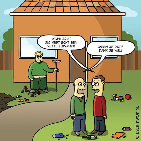 cartoonlijstje: 7 tuiniergrappen -Evert Kwok