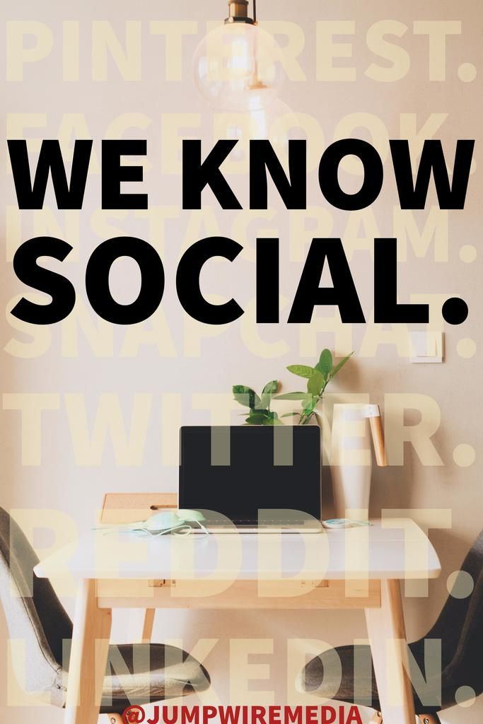 Hey, you. Yeah, you!  Follow us on for the latest (and greatest!) tips in social media.