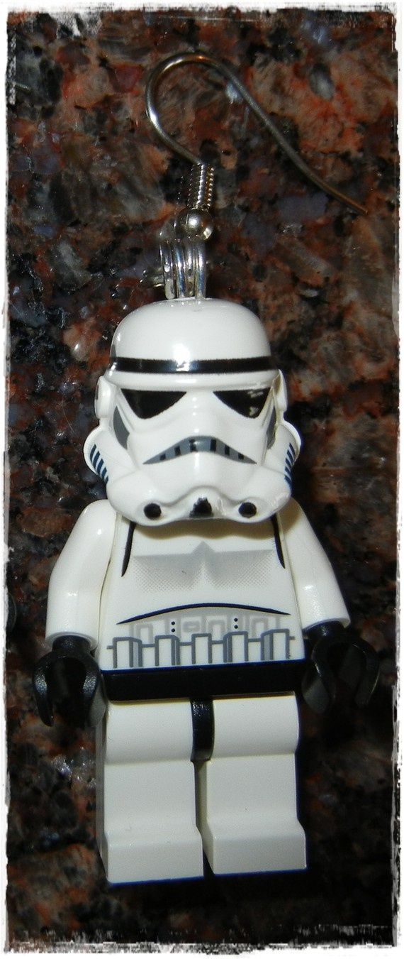 E Lego Star Wars Storm Trooper Earrings Full by EVILandENCHANTED, $22.00