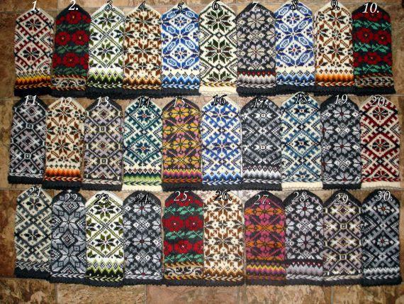 Hand knitted mittens Wool mittens Winter by MittensSocksShop