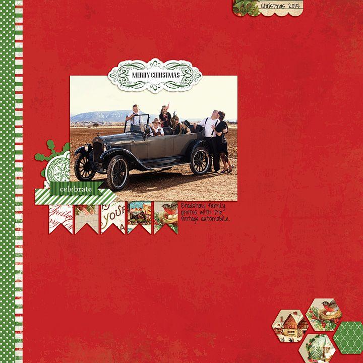 "Digital ""Christmastime"" Layout by Rachael Sheedy"