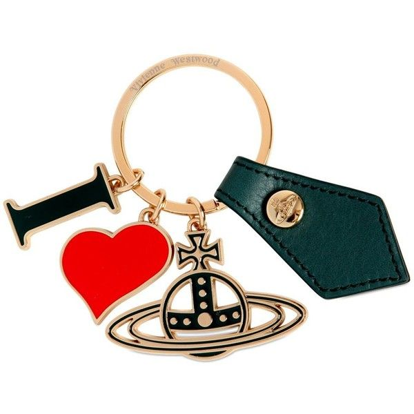 Vivienne Westwood Women Gadget I Love Metal Key Holder ($71) ❤ liked on Polyvore featuring accessories, metal key rings and vivienne westwood
