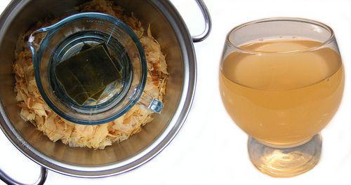 Recept om zelf japanse visbouillon (dashi) te maken van bonito flakes en kombu