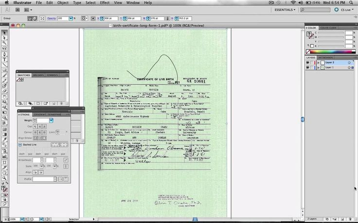 Obama Birth Certificate Faked In Adobe Illustrator - Official Proof 1 ( Layers ).....impeachment not necessary......JUST DEPORT HIM !!!!