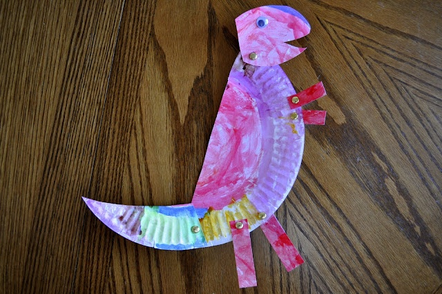 Paper Plate T-Rex: Crafty Things, Trex, Paper Plate Crafts, Dinosaurs Preschool Crafts, Paper Plates, Plate T Rex, Kid, Heart Crafty