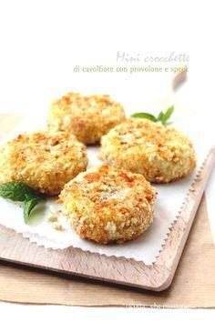 Mini crocchette di cavolfiore con provolone e speck da: ricotta...che passione: finger food