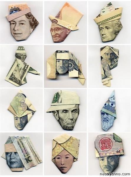 Оригами юбка из денег
