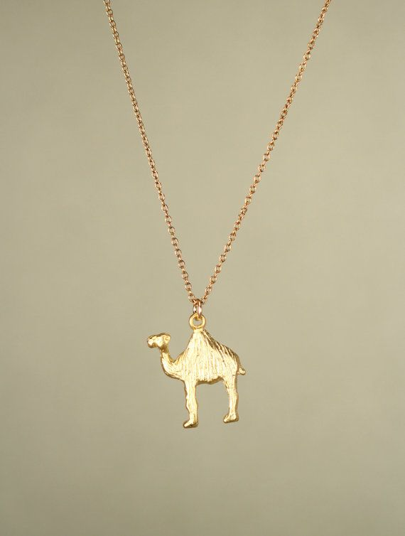 I obviously NEED this necklace.  Like now.  -> Camel necklace  gold camel necklace  camel jewelry  by BubuRuby, $24.00
