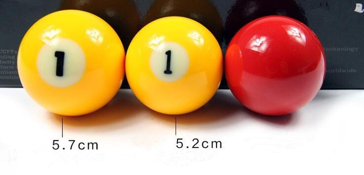59.00$  Watch now - http://aliqm6.shopchina.info/go.php?t=32808863806 - Pool  Free shipping discounts price billiard balls top quality number 1 yellow and red 3 balls size 5.7 and 5.2  #buyonlinewebsite