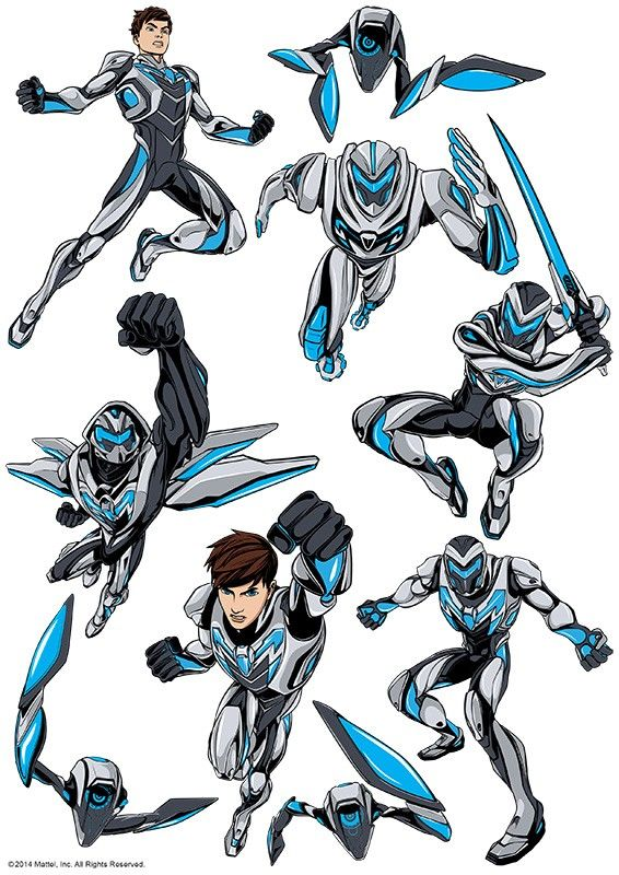Max Steel Character Sheet » Character Art Sheet » Licensed » Pre-Designed Edible Cake Prints