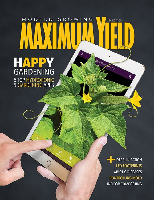 The May 2017 issue of Maximum Yield is now available! In this issue we highlight some of the best smartphone apps available for hydroponic and traditional gardeners, as well as some tips for interpreting your latest plant analysis reports. We also feature articles on LED footprints and light planning, vertical farms, and EC versus PPM. You'll also learn about abiotic diseases, indoor composting, desalination techniques for home growers, and how to set up your first grow tent. Find the latest…