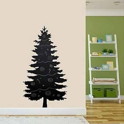 Christmas TreeWall stickers Removable Blackboard decals Gift for kids Room decor Plant decals
