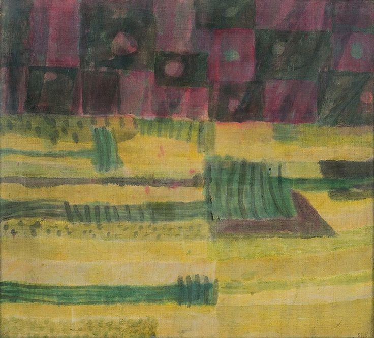 Piotr Potworowski - Composition, 1961, oil, canvas on board, 70 x 78.5 cm