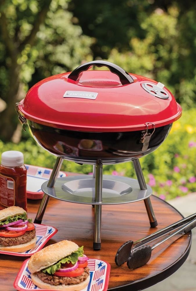 Cuisinart CCG-190RB Portable Charcoal Grill, 14-Inch, Red #Cuisinart