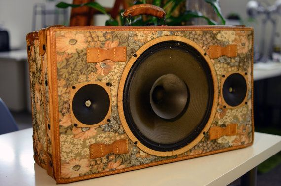 Fleur-de-lis JukeCase Unique Portable Audio by SonValise on Etsy