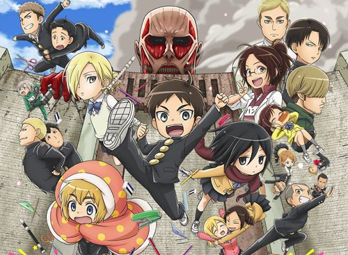 Attack on Titan: Junior High is a Real Anime Coming This Fall I read the first volume and it was funny and adorable!