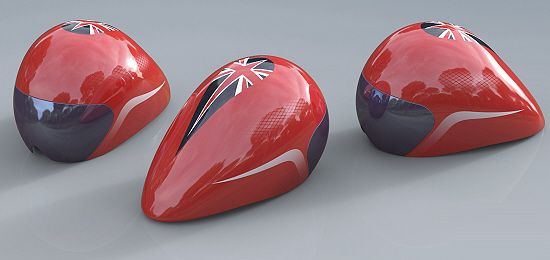 3D Printed Olympics Cycling Helmets