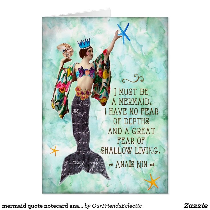 mermaid quote notecard anais nin note card