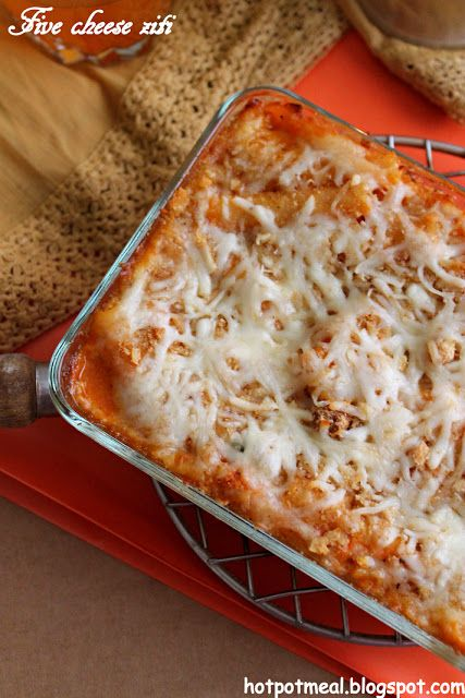 Hot pot cooking: Five cheese ziti