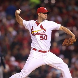 Cardinals ace Adam Wainwright pitches his 19th win of the season.