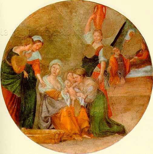 Natività di Maria.  1618. Cappella Nolfi nel Duomo di Fano