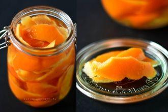 Domowa skórka pomarańczowa w syropie