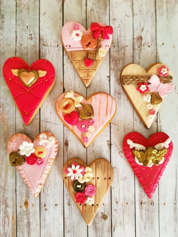 Valentine S Day Cookies By Di Art Cookies Pinterest Cookie