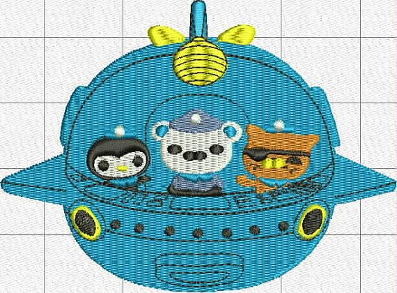 Octonauts Digital Embroidery Design By BiaForceDesigns On