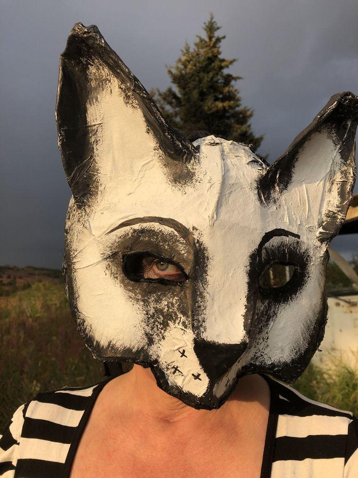 Handmade Custom PapierMâché Animal Masks Creepy Scary