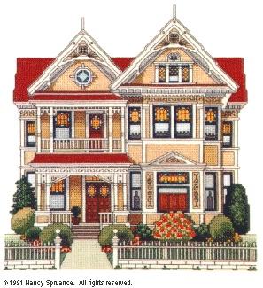 Linden Hall  - finished - designed by Nancy Spruance