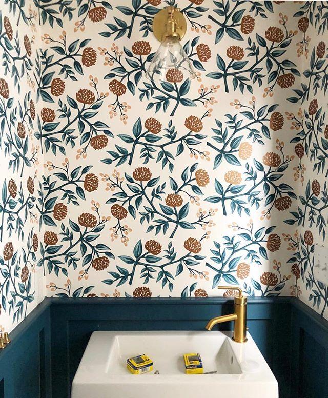 Peonies (Copper) Wallpaper Hygge & West Room wallpaper