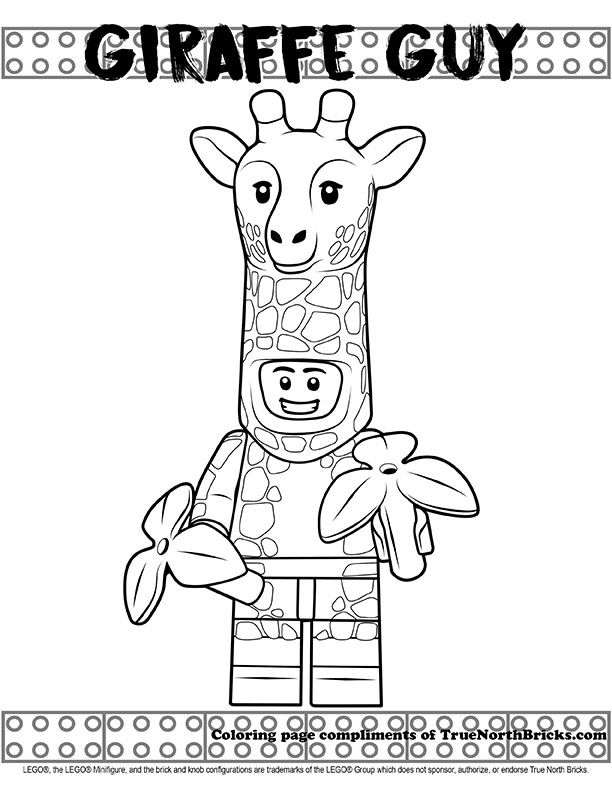 Coloring Page Giraffe Guy Lego Coloring Pages Lego Coloring