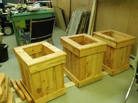 custom wooden planters made in nova scotia by l 39 atelier de. Black Bedroom Furniture Sets. Home Design Ideas