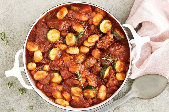 One-pot Italian beef and gnocchi casserole... I would do this with chicken...