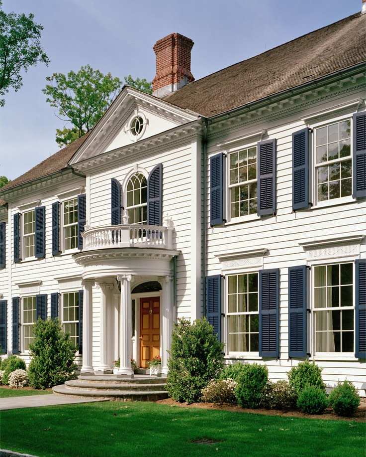 Douglas vanderhorn architects federal style classical revival pinterest exterior house for Federal style home exterior paint colors