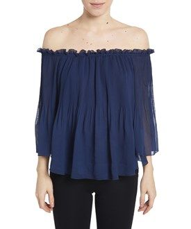 Romeo & Juliet Couture Off Shoulder Pleated Top