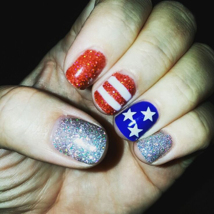 4th of July gel nails. American flag. Memorial day. Kacie's nails. - Best 25+ American Flag Nails Ideas On Pinterest July 4th Nails